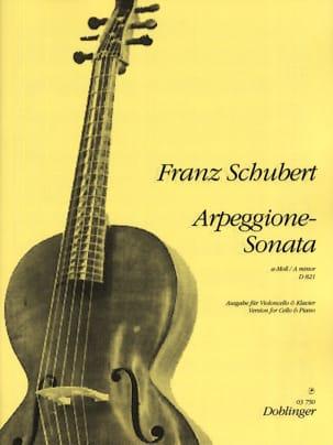 Sonate-Arpeggione A-Moll, D. 821 SCHUBERT Partition laflutedepan