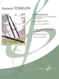 Divertimento Antonio Torriani Partition Basson - laflutedepan