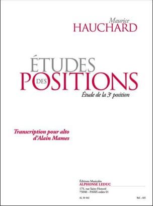 Etudes des Positions - 3ème Position Maurice Hauchard laflutedepan