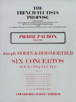 Concerto op. 15 n° 1 en sol majeur - BOISMORTIER - laflutedepan.com
