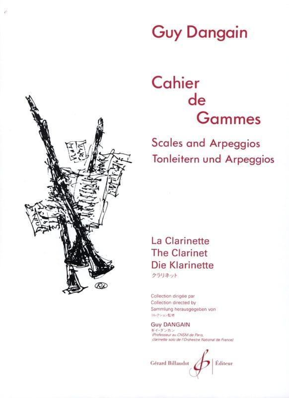 Cahier de Gammes - Guy Dangain - Partition - laflutedepan.com
