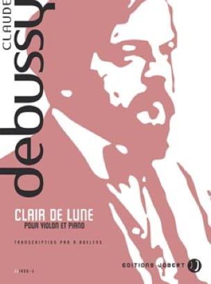 Clair de lune -Violon piano - DEBUSSY - Partition - laflutedepan.com
