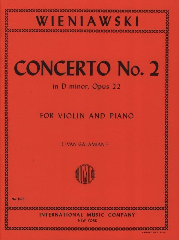 Concerto n° 2 ré mineur op. 22 - Violon - WIENAWSKI - laflutedepan.com