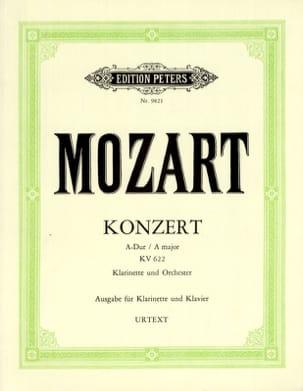 Konzert A-dur KV 622 - A-Klarinette Klavier MOZART laflutedepan