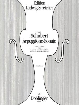 Arpeggione-Sonata a-Moll SCHUBERT Partition Contrebasse - laflutedepan