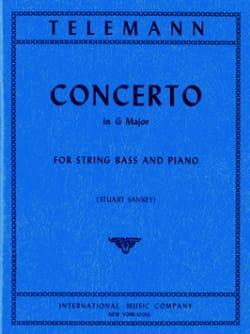 Concerto in G major - String bass TELEMANN Partition laflutedepan