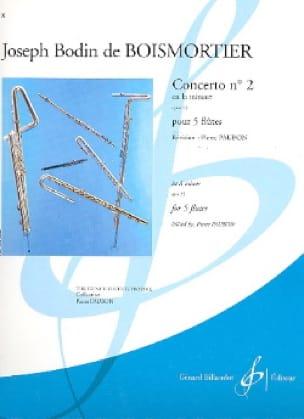 Concerto Op. 15 N° 2 en la Mineur - BOISMORTIER - laflutedepan.com