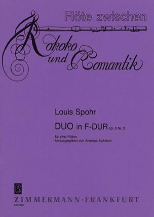 Duo F-Dur op. 3 n° 2 - 2 Flöten SPOHR Partition laflutedepan