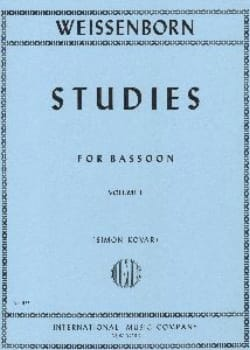 Studies op. 8 - volume 1 Julius Weissenborn Partition laflutedepan