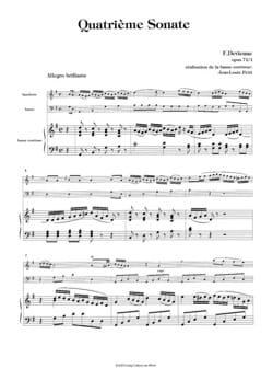 4ème Sonate op. 71 / 1 - Hautbois et basse DEVIENNE laflutedepan