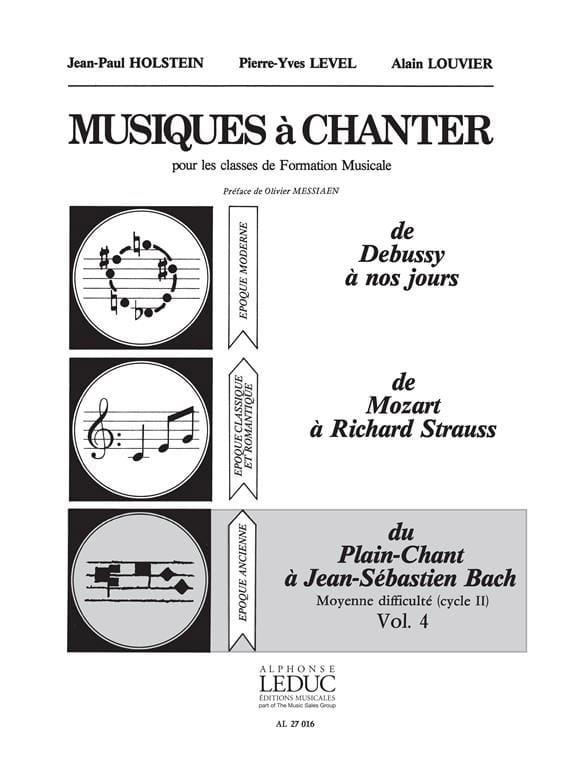 Musiques à chanter - Volume 4 - laflutedepan.com