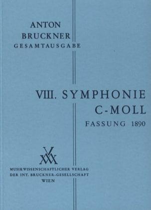 Symphonie N° 8 C-Moll 2. Fassung 1890 BRUCKNER Partition laflutedepan