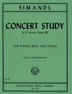 Concert Study in E minor, op. 66 Franz Simandl Partition laflutedepan