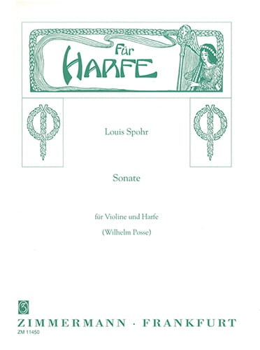 Sonate C-Moll - Violine Harfe - SPOHR - Partition - laflutedepan.com