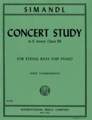 Concert Study in E minor, op. 66 - Franz Simandl - laflutedepan.com
