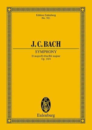 Sinfonia D-Dur Johann Christian Bach Partition laflutedepan