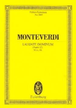 Laudate Dominum MONTEVERDI Partition Petit format - laflutedepan