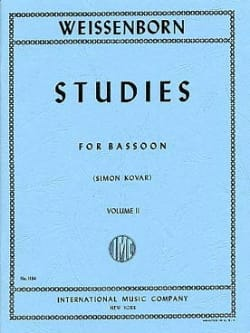 Studies op. 8 - volume 2 Julius Weissenborn Partition laflutedepan