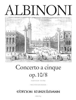 Concerto a cinque op. 10/8 - Conducteur - ALBINONI - laflutedepan.com