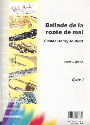 Ballade de la rosée de mai Claude-Henry Joubert Partition laflutedepan