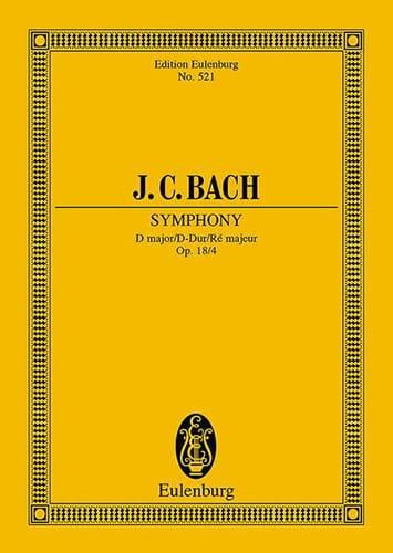 Sinfonia D-Dur - Johann Christian Bach - Partition - laflutedepan.com