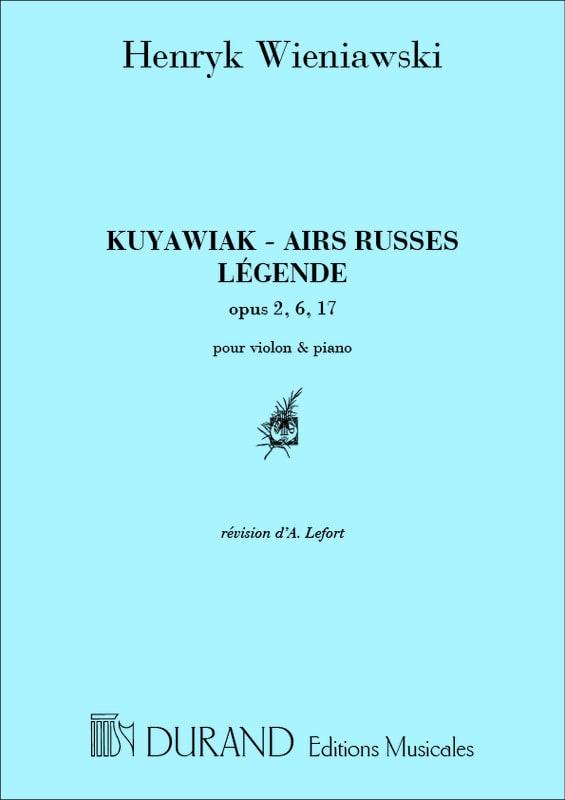 Kuyawiak op. 2 / Airs Russes op. 6 / Légende op. 17 - laflutedepan.com