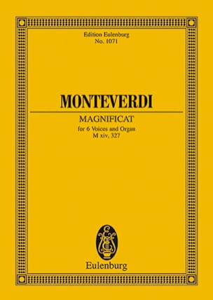 Magnificat MONTEVERDI Partition Petit format - laflutedepan