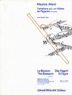 Variations sur un Thème de Paganini Maurice Allard laflutedepan