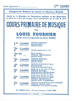 Cours primaire de musique n° 1 Louis Fournier Partition laflutedepan