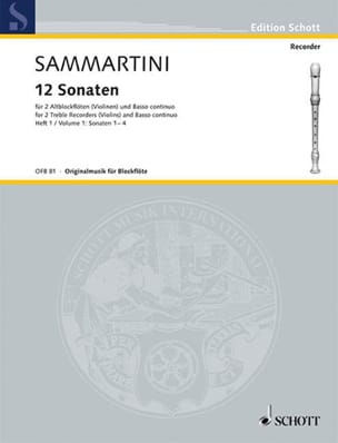 12 Sonaten - Heft 1 : Nr. 1-4 -2 Altblockflöten BC laflutedepan