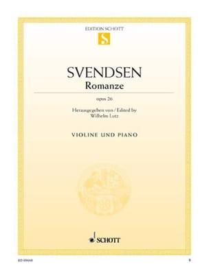Romanze op. 26 Johan Severin Svendsen Partition Violon - laflutedepan