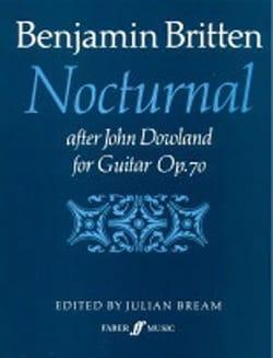 Nocturnal after J. Dowland op. 70 BRITTEN Partition laflutedepan