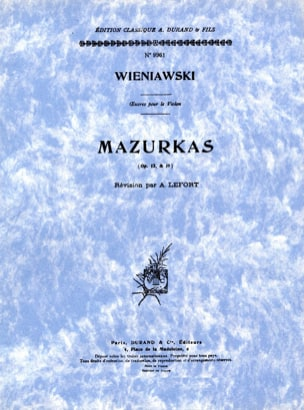 WIENIAWSKI - Mazurkas op. 12 and op. 19 - Partition - di-arezzo.co.uk