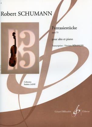 Fantasiestücke op. 73 - SCHUMANN - Partition - Alto - laflutedepan.com