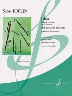 Solace - Quatuor clarinettes JOPLIN Partition laflutedepan