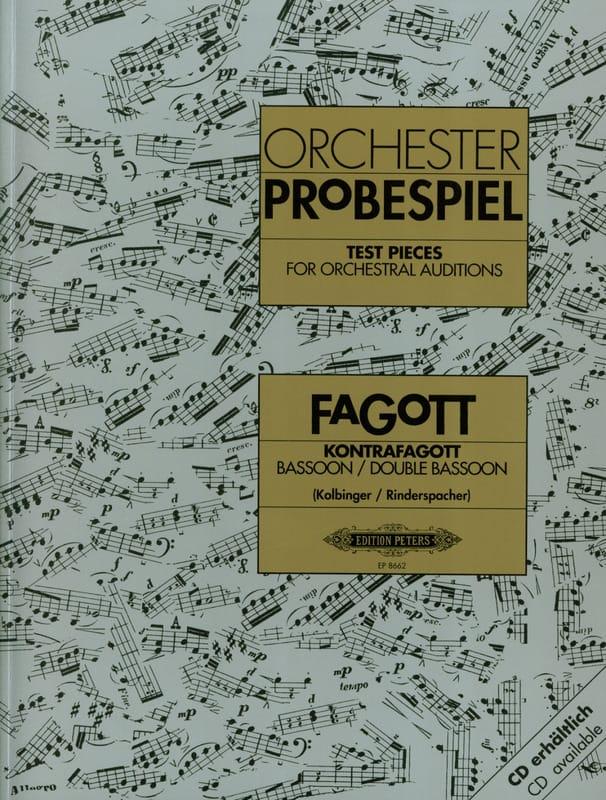 Traits d'orchestre pour basson et contrebasson - laflutedepan.com