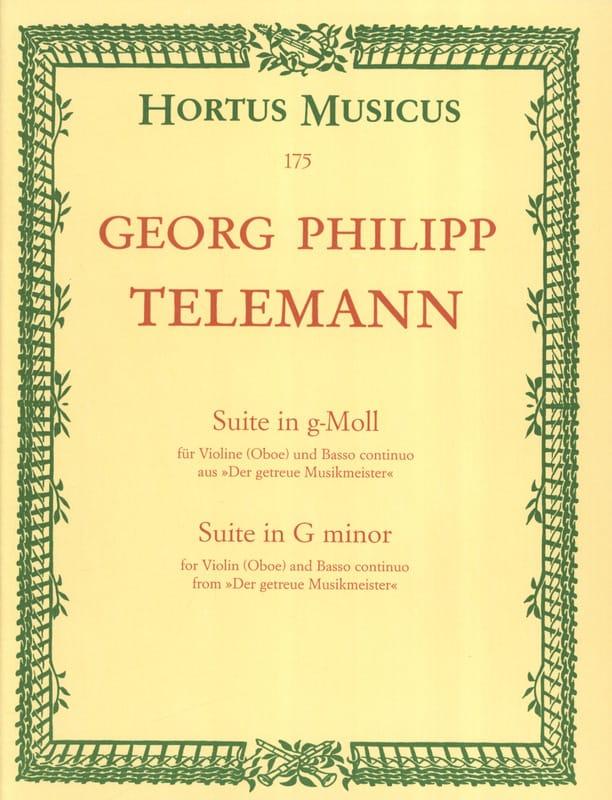 Suite in g-Moll - TELEMANN - Partition - Violon - laflutedepan.com