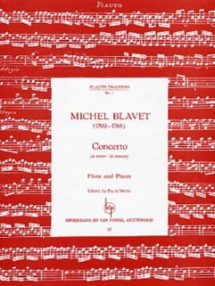 Concerto en la Mineur - Michel Blavet - Partition - laflutedepan.com