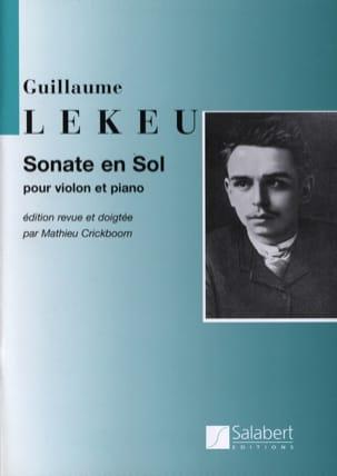 Sonate en sol majeur Guillaume Lekeu Partition Violon - laflutedepan