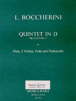 Quintet in D op. 21 n° 1 Parts -Flute 2 violins viola cello - laflutedepan.com