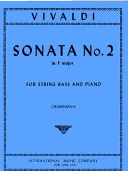 Sonate n° 2 in F major - String bass VIVALDI Partition laflutedepan