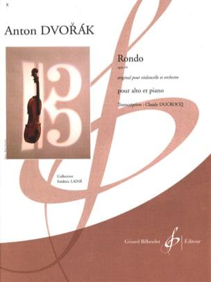 Rondo Op. 94 DVORAK Partition Alto - laflutedepan