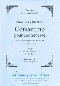 Concertino Claude-Henry Joubert Partition Contrebasse - laflutedepan