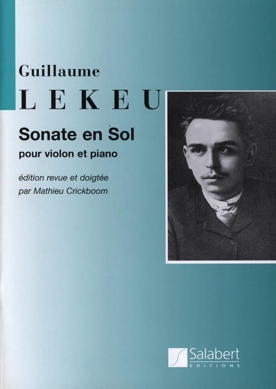 Sonate en sol majeur - Guillaume Lekeu - Partition - laflutedepan.com