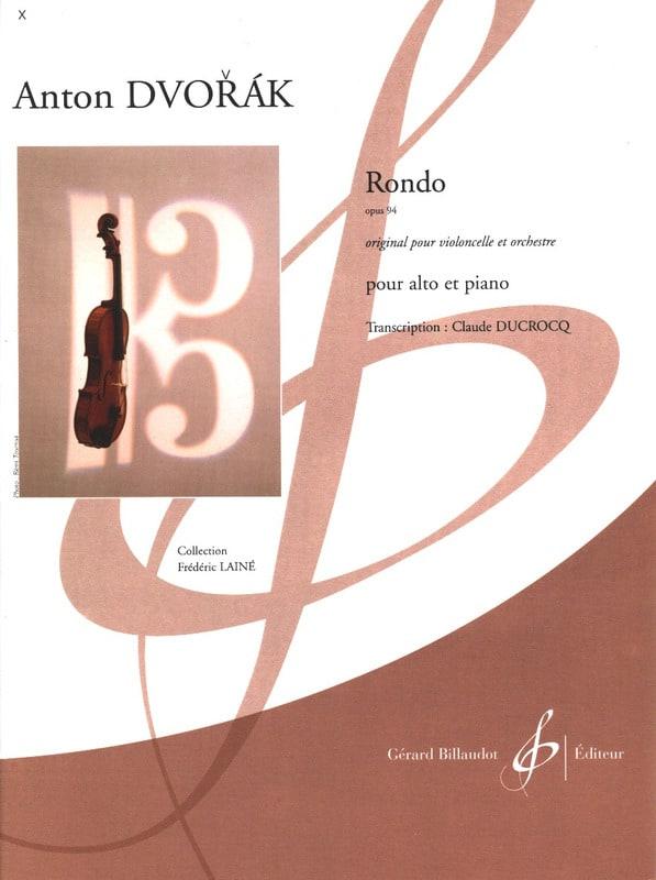 Rondo Op. 94 - DVORAK - Partition - Alto - laflutedepan.com