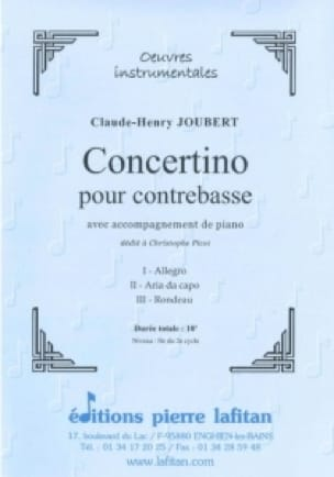 Concertino - Claude-Henry Joubert - Partition - laflutedepan.com