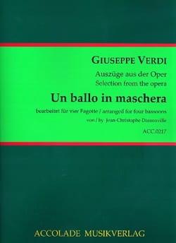 Un Ballo in Maschera - 4 Bassons VERDI Partition Basson - laflutedepan