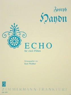 Echo - 2 Flöten HAYDN Partition Flûte traversière - laflutedepan