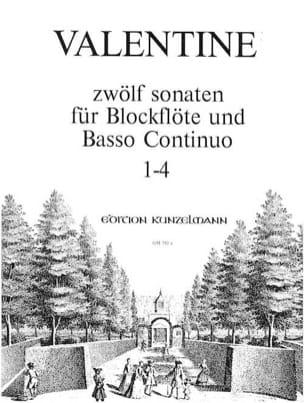 12 Sonaten Bd. 1 Nr.1-4 - Blockflöte u. Bc - laflutedepan.com