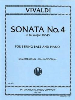 Sonate n°4 in B flat maj. - String bass VIVALDI Partition laflutedepan